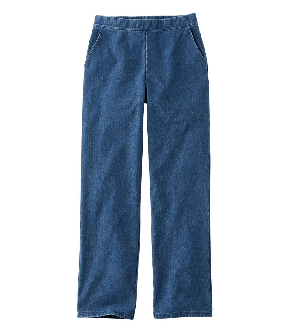 Perfect Fit Pants, Fleece-Backed Straight-Leg Denim