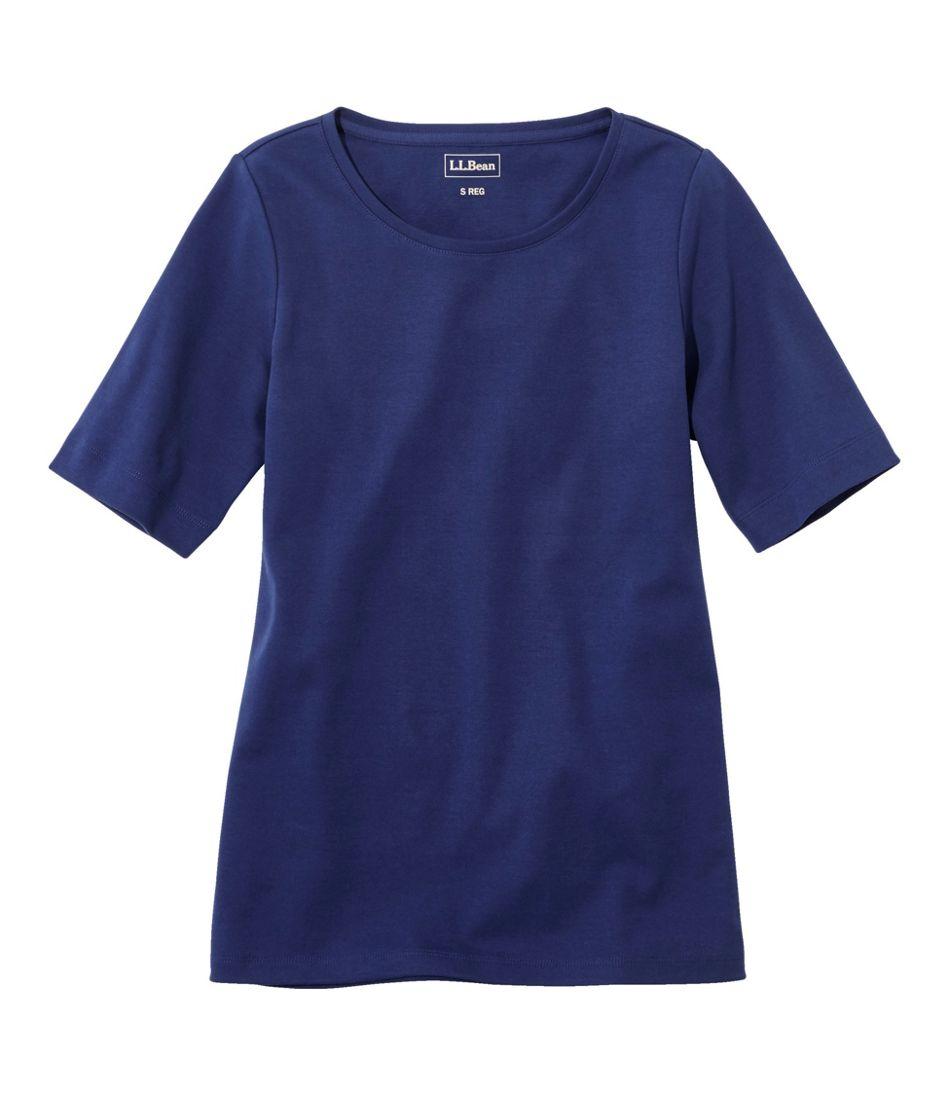 Women's L.L.Bean Jewelneck Tee, Elbow-Sleeve