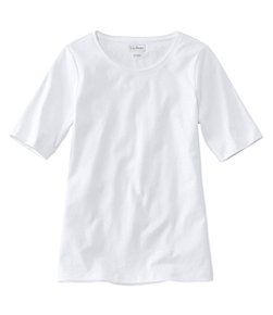 Women's L.L.Bean Jewelneck Tee, Elbow-Sleeve