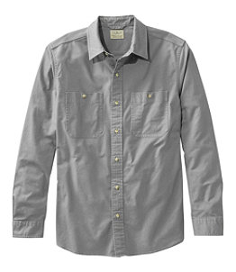 Men's Sunwashed Canvas Shirt, Slightly Fitted, Long-Sleeve