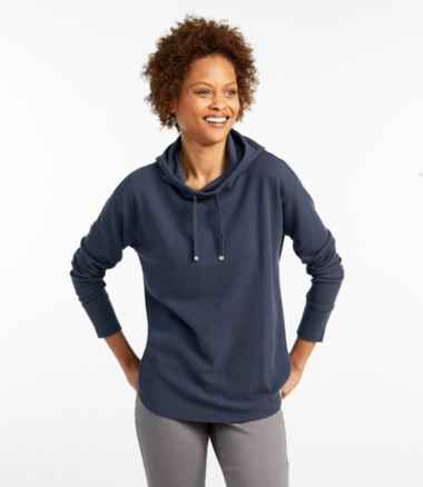 Women's Unshrinkable Mini-Waffle Hoodie, Long-Sleeve