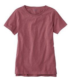 Women's Lakewashed Organic Cotton Tee, Short-Sleeve Crewneck