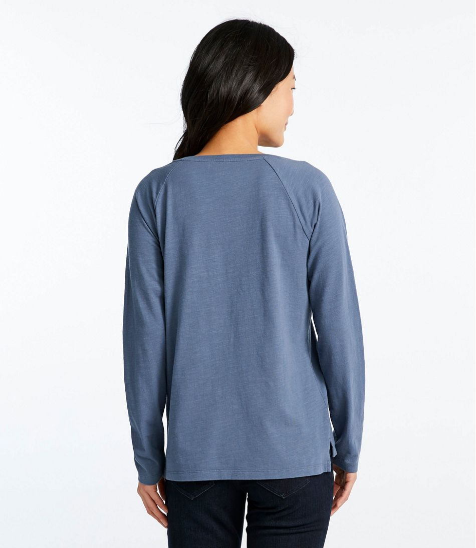 Women's Lakewashed Organic Cotton Tee, Henley