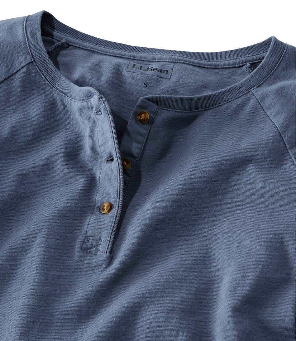 Lakewashed Organic Cotton Tee, Henley