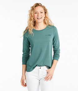 Women's Long Sleeve L.L.Bean Camp Tee, Graphic