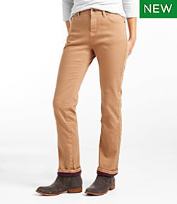 True Shape Jeans, Classic Fit Straight-Leg Fleece-Lined Colors
