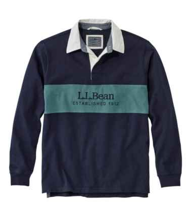 Men's Lakewashed® Rugby, Embroidered Logo, Long-Sleeve