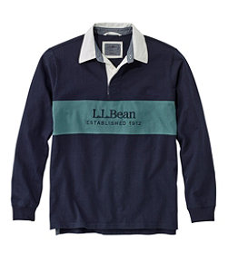 Lakewashed® Rugby, Embroidered Logo, Long-Sleeve