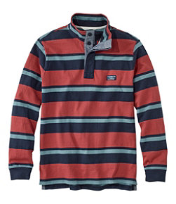 Men's Lakewashed® Rugby Pullover, Traditional Fit, Long-Sleeve Stripe