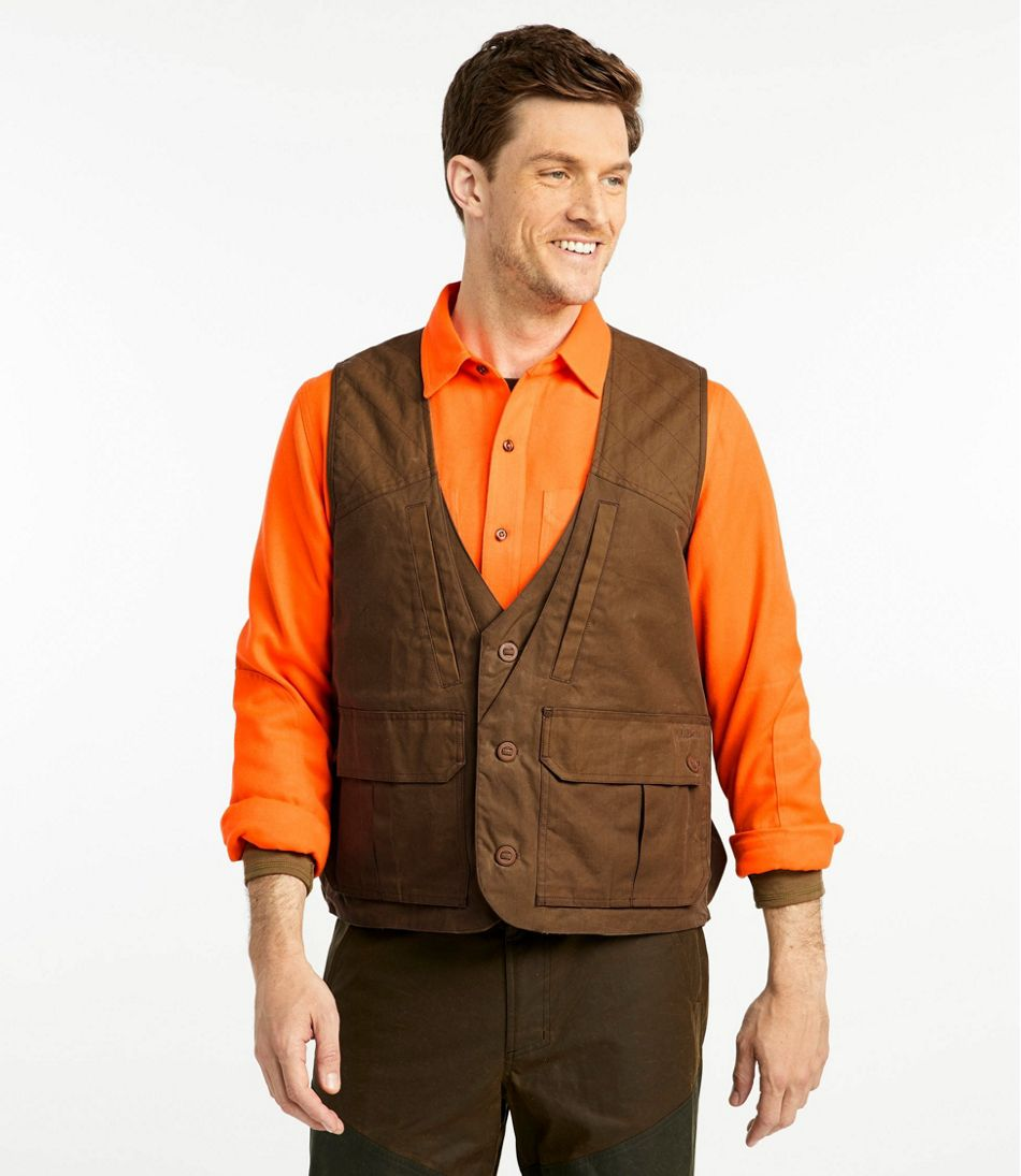 Men's Double L Waxed-Cotton Upland Vest