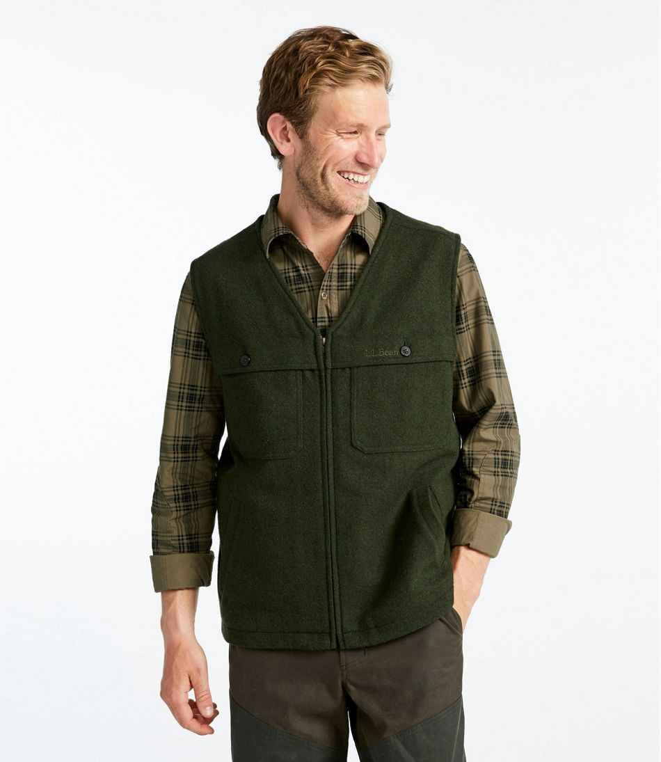 Men's Maine Guide Zip-Front Wool Vest
