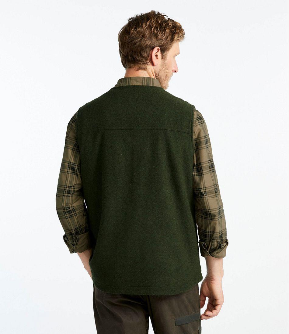 Men's Maine Guide Zip-Front Wool Vest