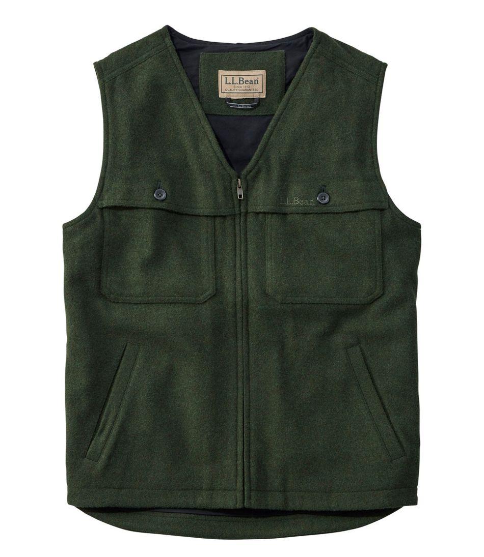 Maine Guide Zip-Front Wool Vest