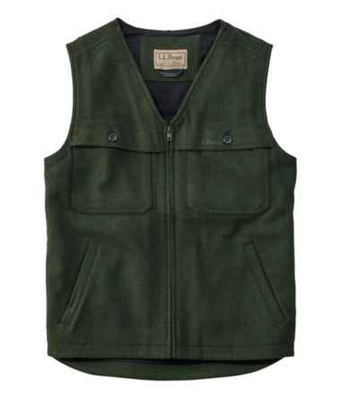 Maine Guide Zip-Front Wool Vest