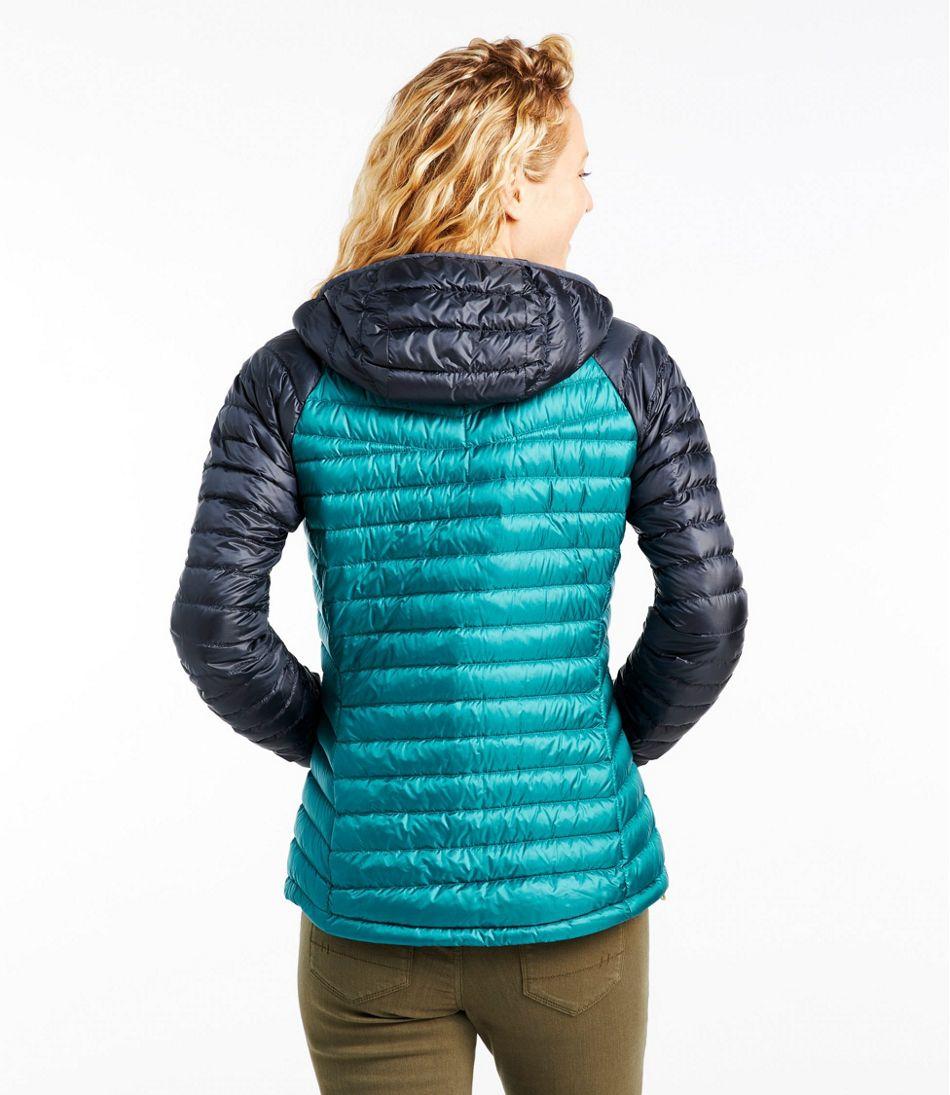 Women's Ultralight 850 Down Hooded Sweater, Colorblock