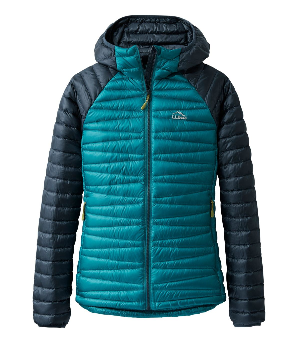 Women's Ultralight 850 Down Hooded Sweater, Colorblock