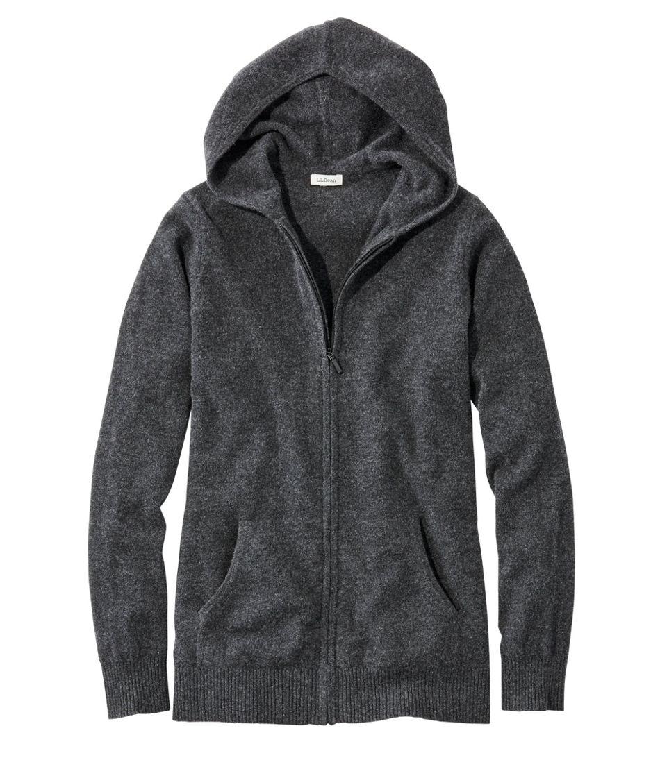 Classic Cashmere Sweater, Zip Hoodie