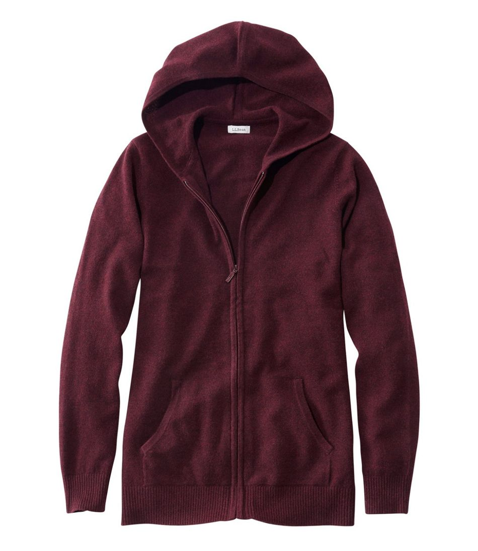 Classic Cashmere Sweater, Zip Hoodie