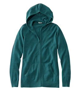 Women's Classic Cashmere Sweater, Zip Hoodie