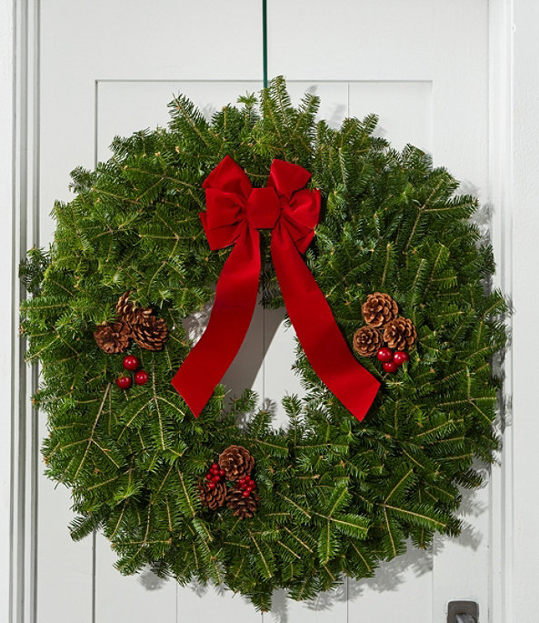 """Tradional Balsam Wreath 30"""", One Color, large image number 0"""