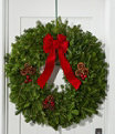 """Tradional Balsam Wreath 30"""", One Color, small image number 0"""
