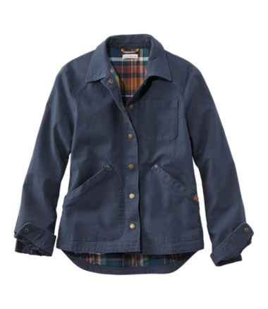 Signature Canvas Jacket, Flannel-Lined