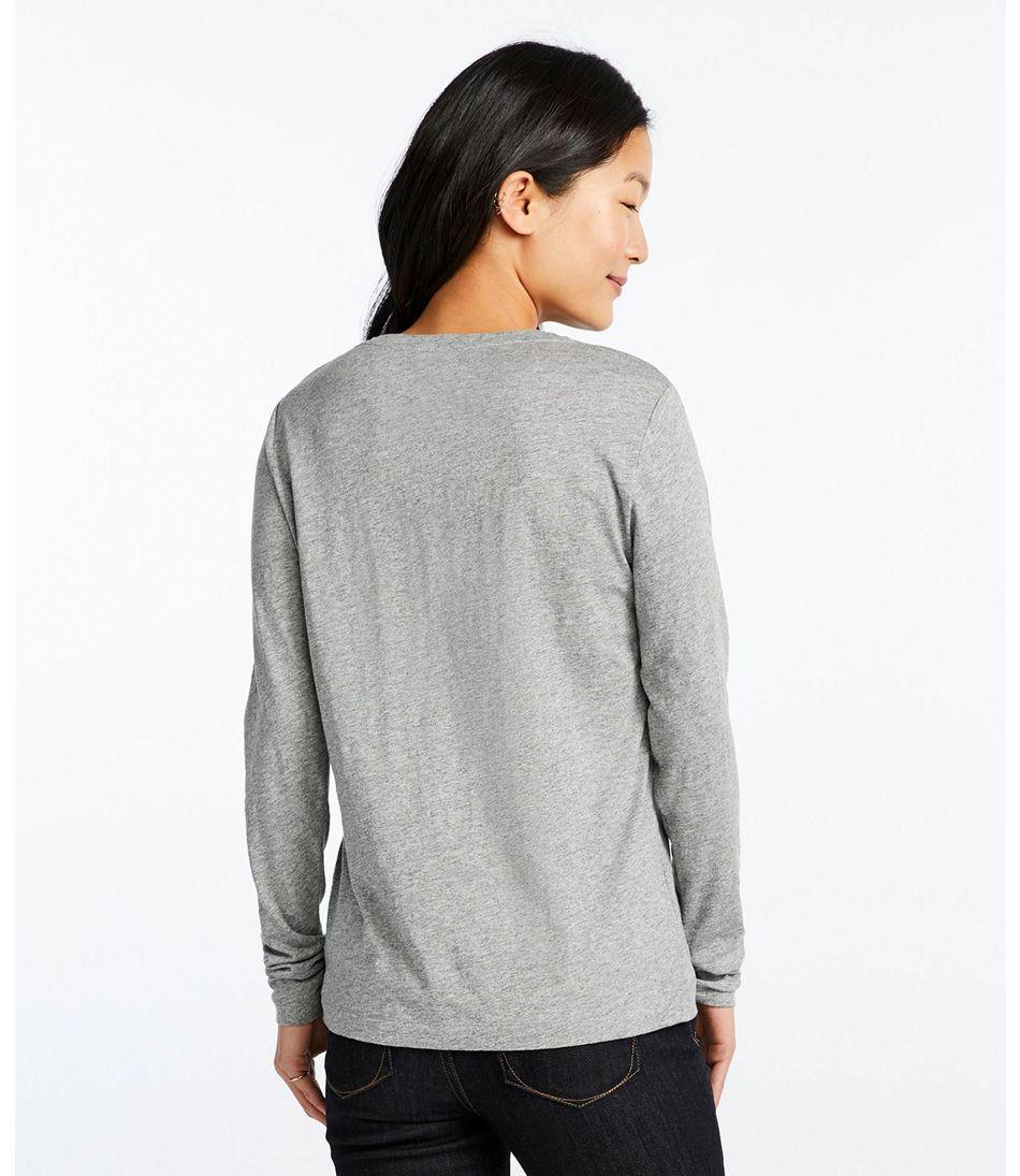 Signature Essential Knit Tee, Long-Sleeve