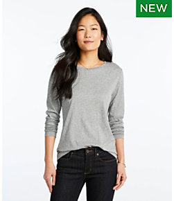 Signature Essential Knit Tee, Long-Sleeve