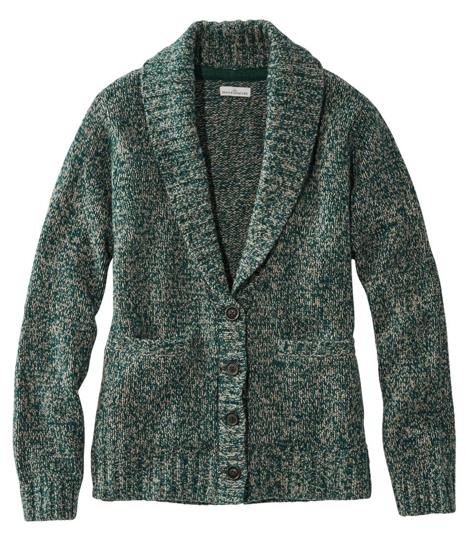 Signature Ragg Wool Sweater, Cardigan