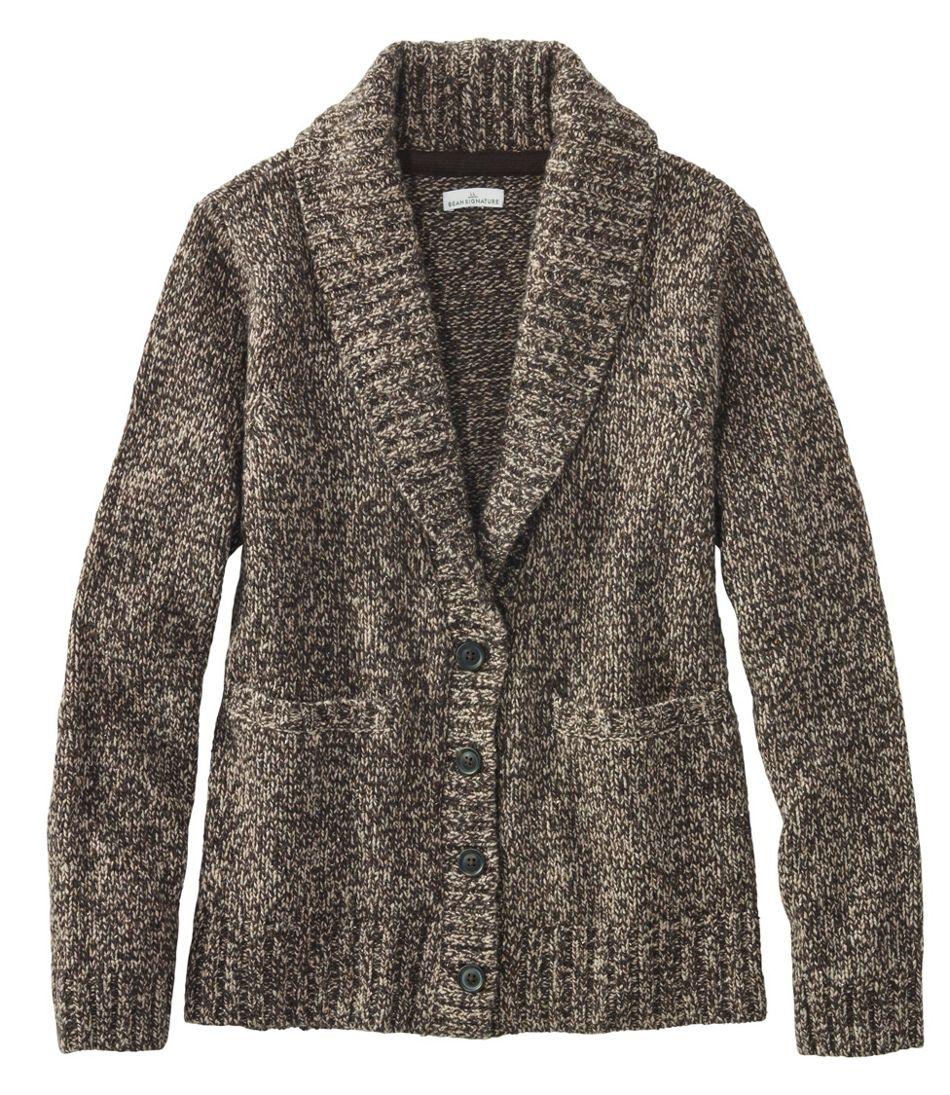 Signature Ragg Wool Sweater, Cardigan