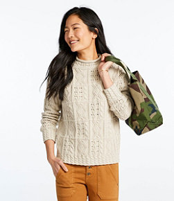 Signature Cotton Mixed-Stitch Sweater