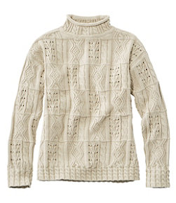 Women's Signature Cotton Mixed-Stitch Sweater