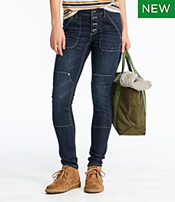 Signature Premium Skinny Jeans, Button-Front Ankle