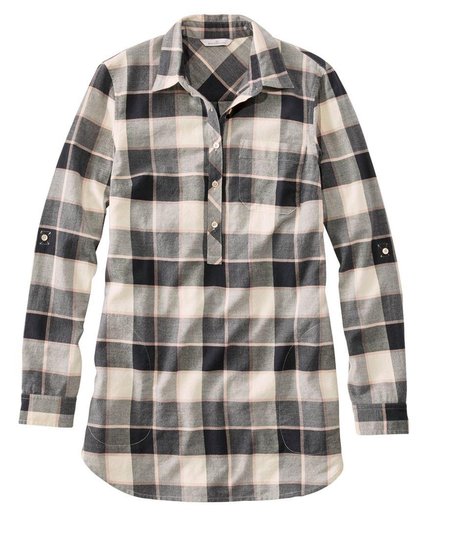 Signature Lightweight Flannel Tunic Shirt