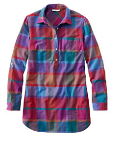 Signature Lightweight Flannel Tunic Shirt