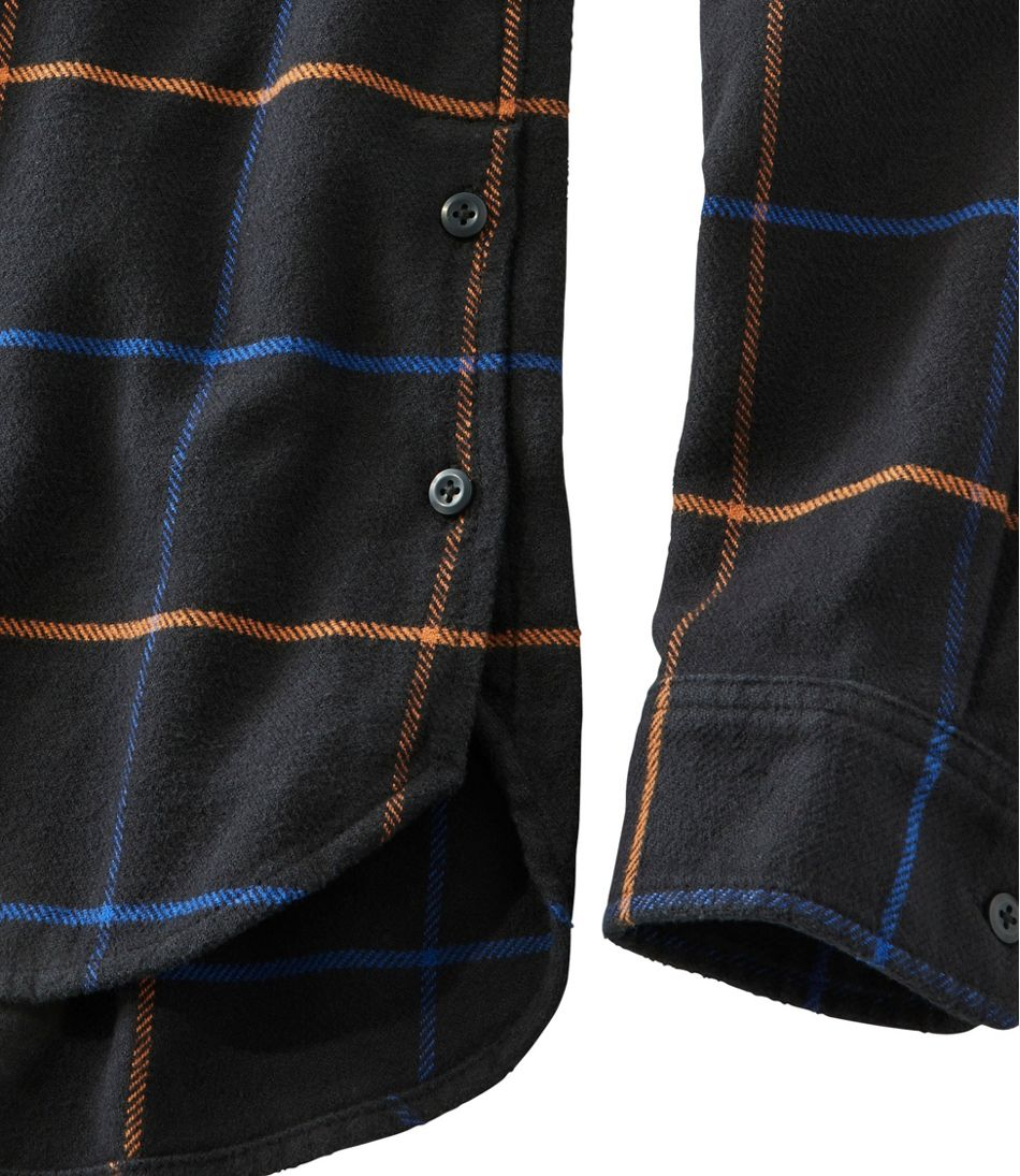 Signature Organic Flannel Shirt, Button-Front