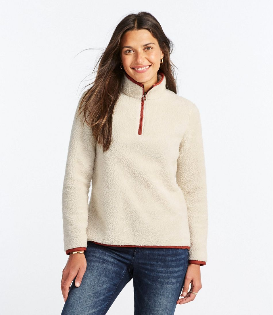 Signature Sherpa Fleece Pullover, Quarter-Zip