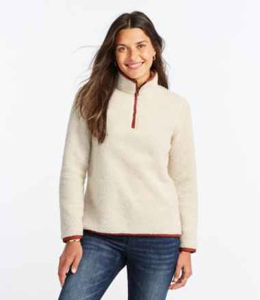 Women's Signature Sherpa Fleece Pullover, Quarter-Zip