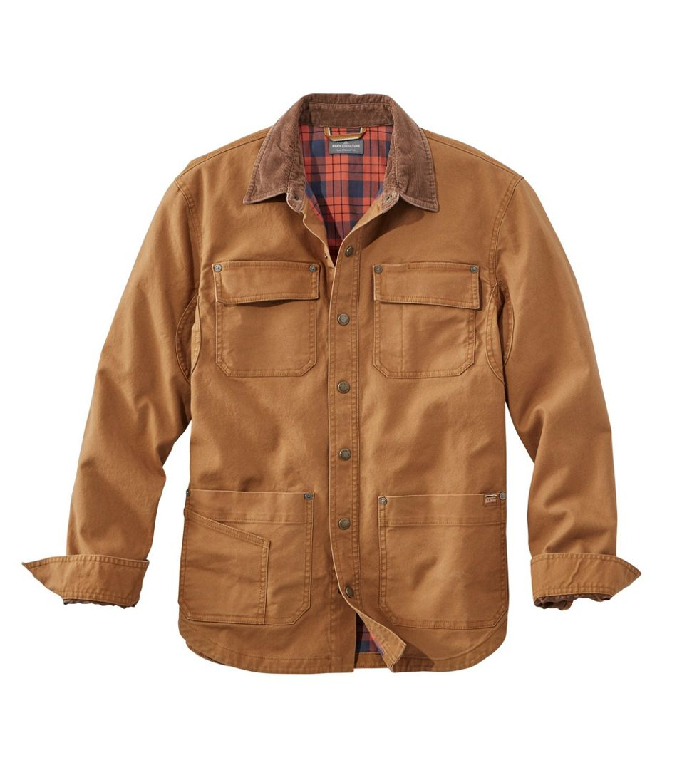 Men's Signature Lined Canvas Shirt Jac