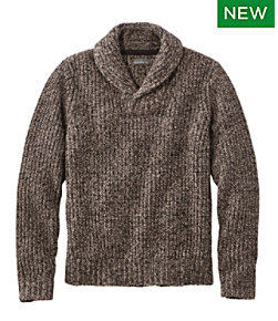 Signature Ragg Wool Sweater, Shawl Pullover
