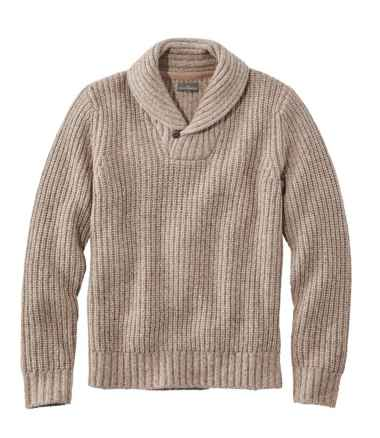 Men's Signature Ragg Wool Sweater, Shawl Pullover
