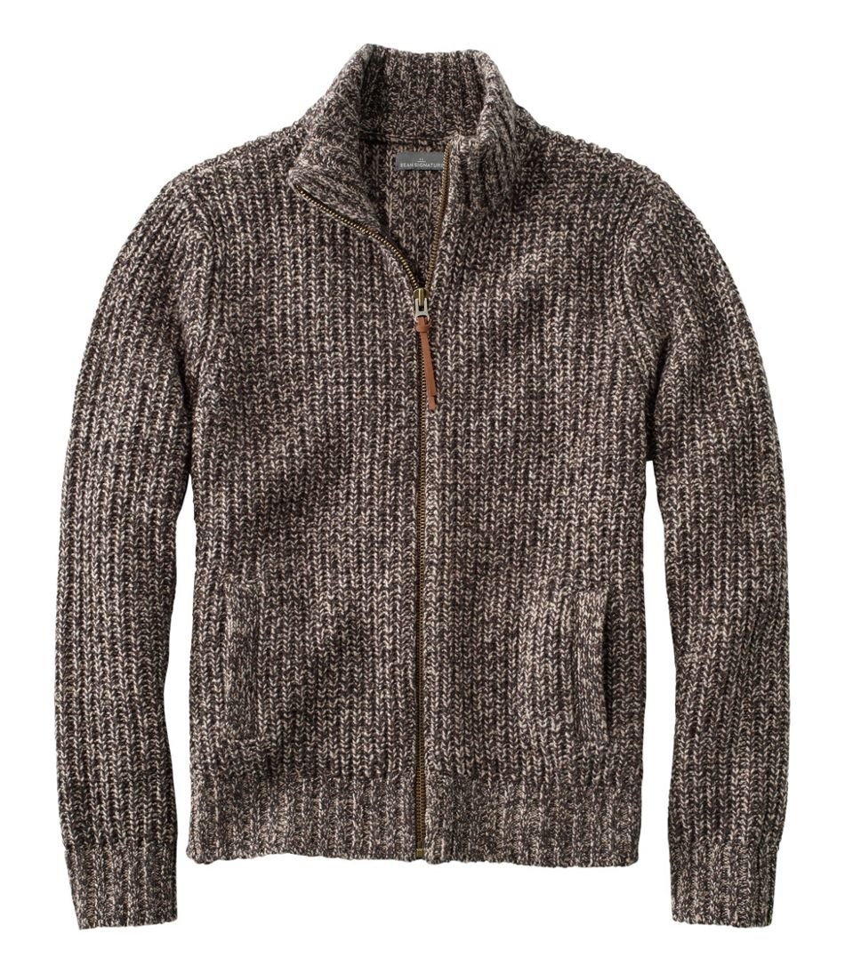 Signature Ragg Wool Sweater, Full-Zip