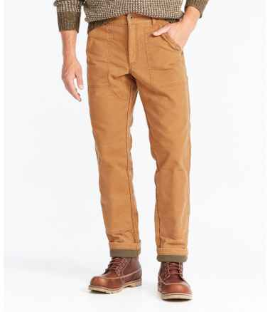 Men's Signature Lined Canvas Utility Pants