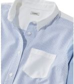 Women's Lakewashed Organic Cotton Oxford Shirt, Colorblock