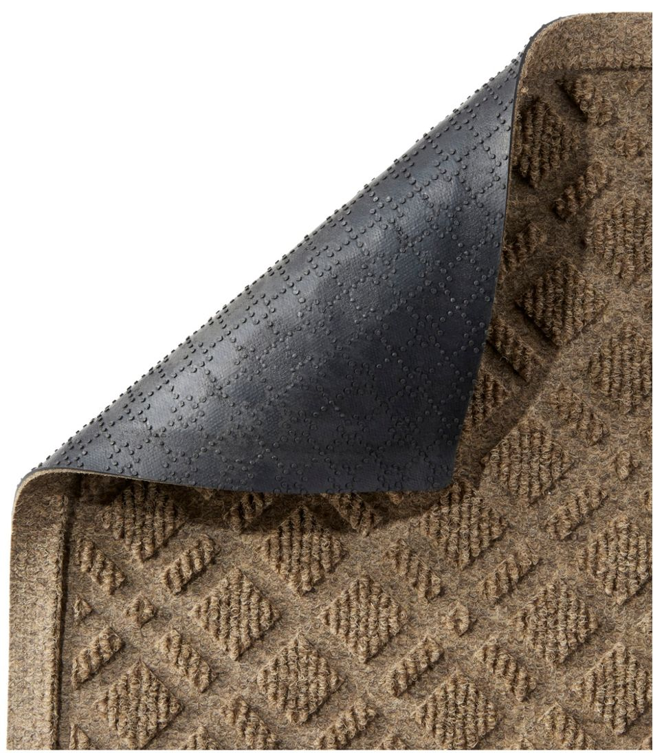 Heavyweight Recycled Waterhog Doormat, Crescent, Plaid