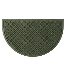 Heavyweight Recycled Waterhog Doormat, Crescent, Plaid