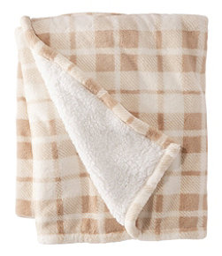Wicked Plush Sherpa Throw, Plaid