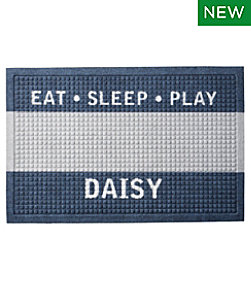 Heavyweight Recycled Waterhog Dog Feeding Mat, Personalized