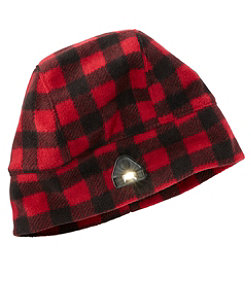 Adults' L.L.Bean Pathfinder Lighted Beanie, Plaid