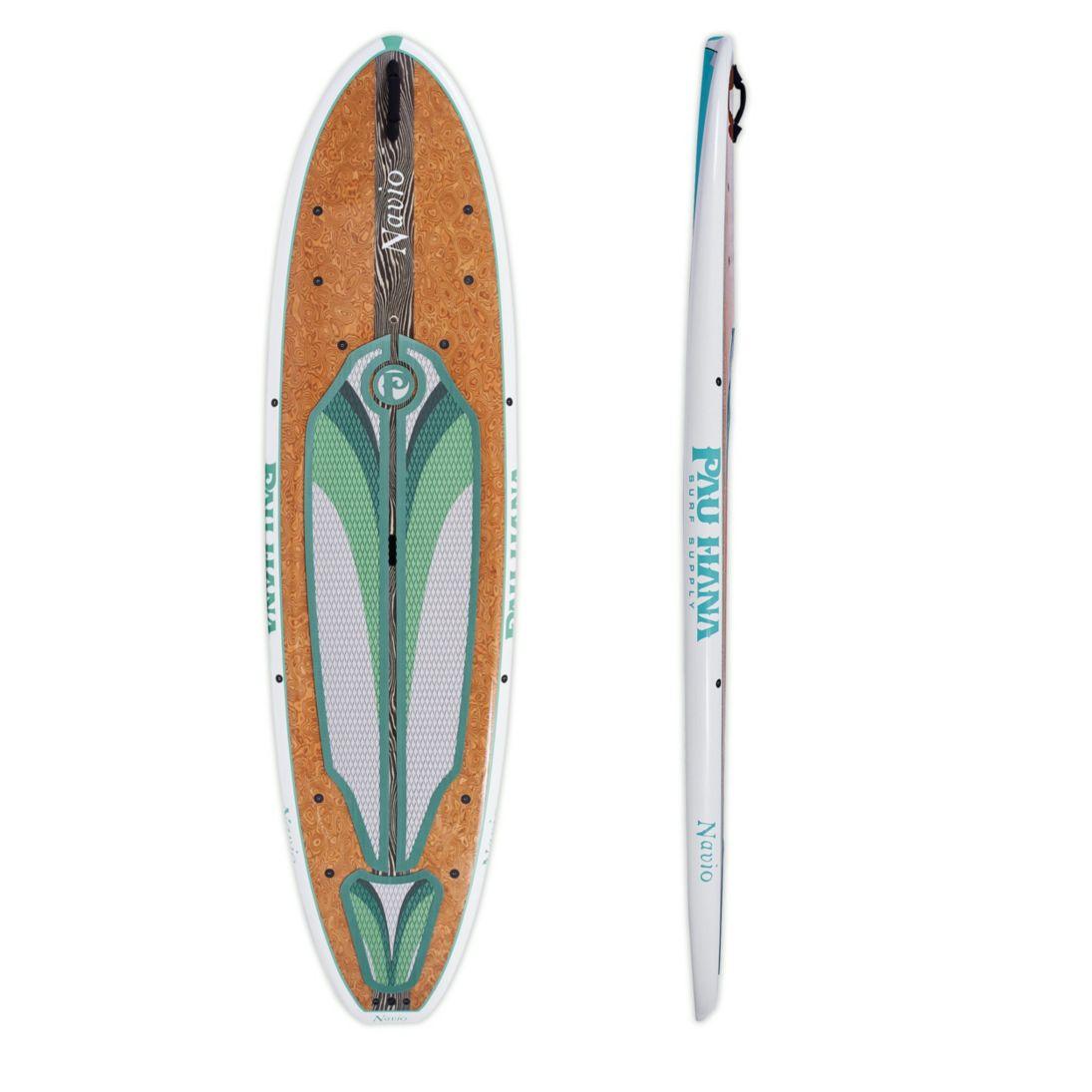 Pau Hana Navio Bamboo Hybrid Keel Hull Stand Up Paddleboard, 11'